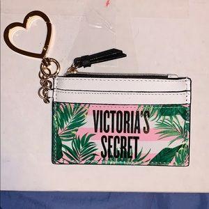 Victoria secret card holder small wallet keychain